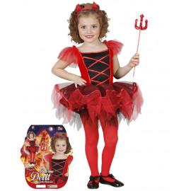 Costume Halloween Bimba travestimento Diavoletta con Tutù 21822