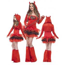 Costume Halloween Carnevale Donna Diavolo Tutu Smiffys ,Diavoletto | Pelusciamo.com