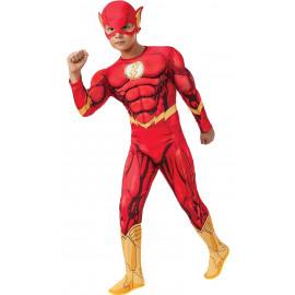 Costume Carnevale Flash Con Muscoli Dc Comics PS 05176 Ufficiale Rubies