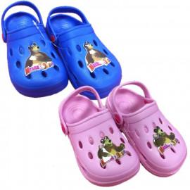 Ciabatte Bambino tipo crocs Masha e Orso Pantofole Bambina  | Pelusciamo.com