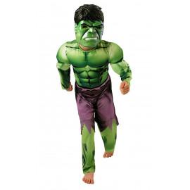 Costume Carnevale bambino Incredibile Hulk muscoli The Avengers *05048