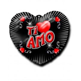 Cuore gonfiabile in gomma Ti amo 15 cm  - San Valentino *01263