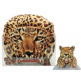 Cuscino da viaggio per il collo con cappuccio animale leopardo *00853