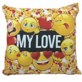Cuscino smile my love idea regalo x san valentino 45x45 cm 04914 pelusciamo store