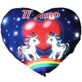 Cuscino Cuore Unicorni Ti Amo Regalo San Valentino 35 Cm PS 26428 pelusciamo store Marchirolo