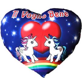 Cuscino Unicorni Cuore Ti Voglio Bene Amici San Valentino 35 Cm PS 26429 pelusciamo store Marchirolo