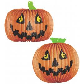 Decorazione Casa Halloween 2 Lampioni Zucche 26 Cm. PS 09157 Pelusciamo Store Marchirolo