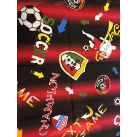 Completo Letto singolo rossoneri champion soccer *01870