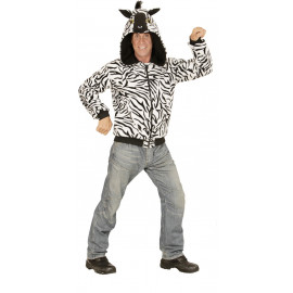 Felpa Uomo e Donna Zebra , Costume Carnevale Animale PS 22774