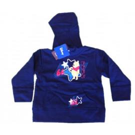 Felpa con cappuccio Disney Winnie the Pooh soccer blu *13649 pelusciamo