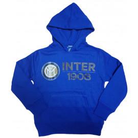 Felpa Inter Blu Con Cappuccio Per Ragazzi FC Internazionale | Pelusciamo.com