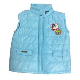 Gilet Giacca bimbo smanicata azzurra Baby Looney Tunes Silvestro *13619