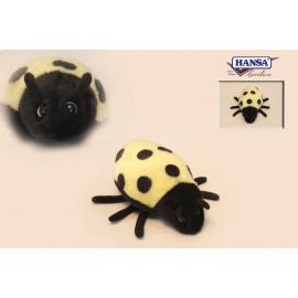 Peluche Coccinella Lady Bug Gialla 6x17x16 Peluches Hansa PS 07715