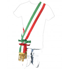 Fascia Tricolore Da Sindaco A Fiocco Scorrevole Per Adulti Made In Italy PS 04631 pelusciamo store marchirolo