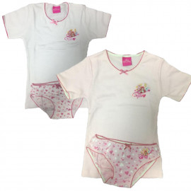 Completo Intimo Bambina Palace Pets Magliette E Slip Principesse PS 08578 Pelusciamo Store Marchirolo