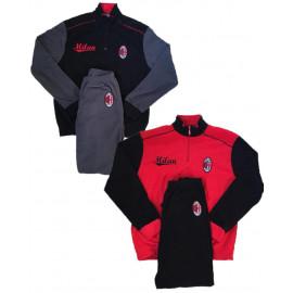 Pigiama Milan In Pile Abbigliamento Uomo Ufficiale AC Milan PS 10693 Pelusciamo Store Marchirolo