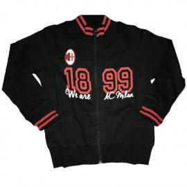 Felpa Bambino Milan Calcio con Cerniera Abbigliamento Calcio PS 26671 pelusciamo store Marchirolo
