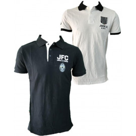 Polo Juventus Bianco Nera Logo Storico T-shirt Juve PS 27075 Pelusciamo Store Marchirolo