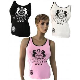 Canotta Donna Juventus Bianco Nera Rosa Logo Storico Juve PS 27095 Pelusciamo Store Marchirolo