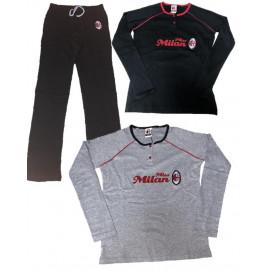 Pigiama Donna AC Milan Maglia e Pantaloni Abbigliamento Calcio PS 10304 pelusciamo store