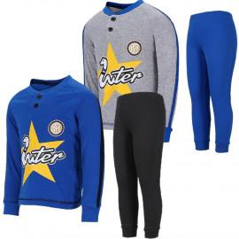 Pigiama Inter Bimbo Abbigliamento Calcio FC Internazionale PS 26898 Pelusciamo Store Marchirolo