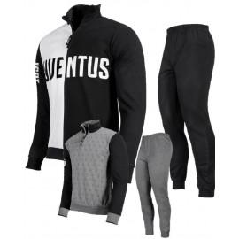 Pigiama Uomo Juve Felpato Abbigliamento Ufficiale Juventus PS 25725 Pelusciamo Store Marchirolo