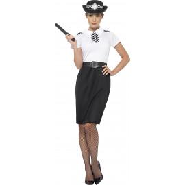 Costume Carnevale Donna sexy Poliziotta inglese Bianco 24946 pelusciamo store