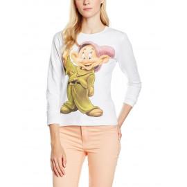 Maglietta donna Maniche Lunghe Cucciolo 7 Nani Disney N05633 pelusciamo store