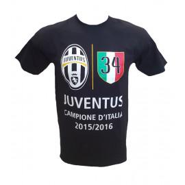 Maglietta Juventus Campioni D'Italia T-shirt Juve 34 Scudetto PS 23482