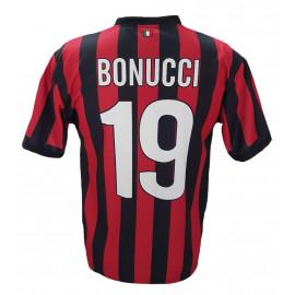 Maglia Calcio Adulto Bonucci Milan 2017/2018 Replica Ufficiale PS 07509   Pelusciamo.com