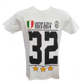 Maglietta Juventus FC Campioni D'Italia T-shirt Juve Ufficiale PS 18001