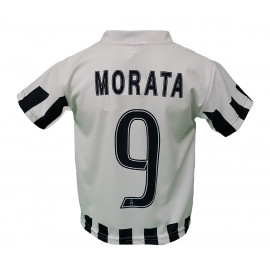 Maglia Calcio Bambino Juventus Bianconera Replica Ufficiale Morata PS 22234 | Pelusciamo.com