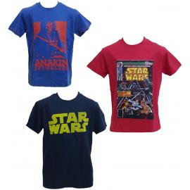 T-shirt Star Wars guerre stellari manica corta bimbo ragazzo  *21247