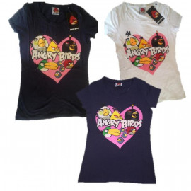 T-Shirt Donna Angry Birds, Maglietta maniche corte *13069