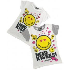Maglietta Smiley T-shirt Bambine sorrisi PS 06381 pelusciamo store