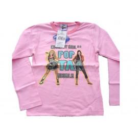 Felpa maglia manica lunga Hannah Montana pop star rosa