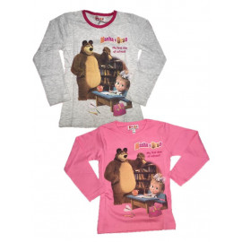 Maglietta Bambina Masha e Orso *22486 Maglia Manica lunga Bimba | Pelusciamo.com