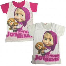 Maglietta Maniche corte Bambina Masha e Orso, T-shirt Bimba | Pelusciamo.com