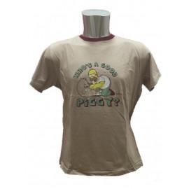T-shirt Maglietta Homer e Pig The Simpson Abbigliamento Adulto Uomo *05742
