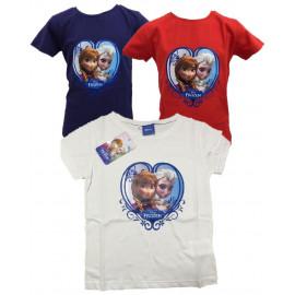 Maglietta Manica Corta Disney Frozen,  T-Shirt Anna e Elsa *20498