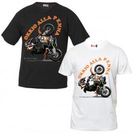 Maglietta Motocross Motard Occhio Alla PennaT-Shirt Personalizzate PS 27431-Impennata Pelusciamo Store Marchirolo