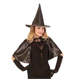 Mantellina Halloween Donna Con Cappello Strega One Size PS 08931 Pelusciamo Store Marchirolo