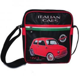 Marsupio a Tracolla Italian cars since 1957 ecopelle *11316 pelusciamo