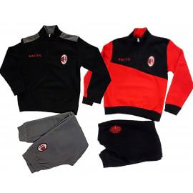 Pigiama Invernale Milan In Pile Abbigliamento Ufficiale AC Milan PS 09033 Pelusciamo Store Marchirolo
