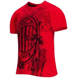 T-Shirt Bambino Milan Abbigliamento Ufficiale Calcio PS 26719 Pelusciamo Store Marchirolo