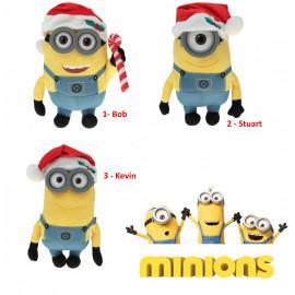 Peluche Minions Natale , Kevin Stuart Bob Pupazzo 3D  *06269