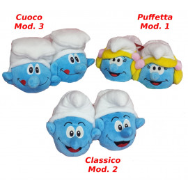 Moppine Ciabatte i Puffi - Puffetta  Puffo classico e Cuoco | Pelusciamo.com