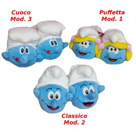 Moppine Ciabatte i Puffi - Puffetta  Puffo classico e Cuoco
