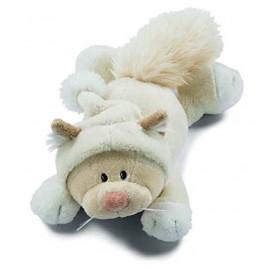 Peluche Snowcat Tina sdraiata gambalunga 30 cm peluches Nici *01751 pelusciamo store