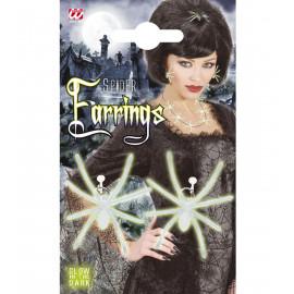 Orecchini Fluo Ragno, Accessorio Costume Hallowen  | pelusciamo.com